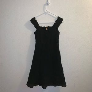Maeve From Anthropology Black Cotton Tank Dress